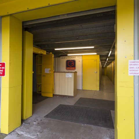 Entrance to the storage warehouse