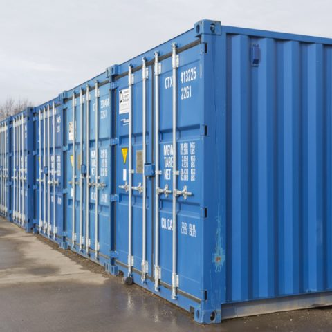 View of the external storage containers next to each other