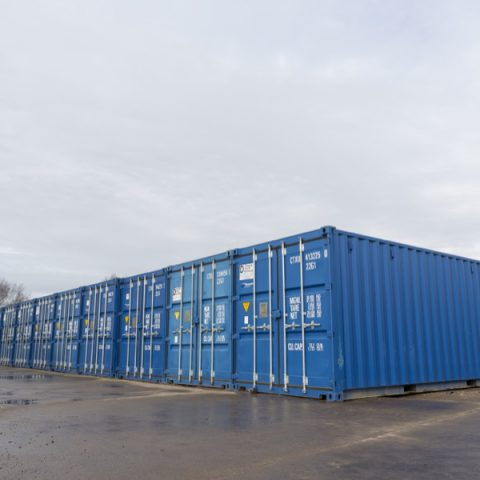 External Storage Containers lined up side by side