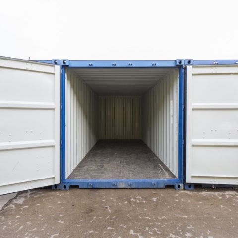 Inside of a external storage container